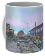 Nightfall On The Metal Mountain At Schnitzer Steel Coffee Mug by Asha Carolyn Young