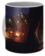 Nighttime Driving With City Lights Coffee Mug