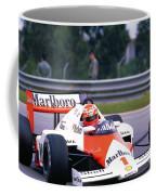 Niki Lauda. 1985 Portuguese Grand Prix Coffee Mug