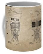Nikola Tesla's Electrical Generator Patent 1894 Coffee Mug