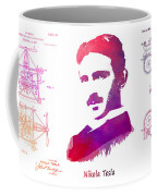 Nikola Tesla Patent Art Apparatus For Aerial Transportation  Coffee Mug
