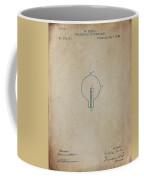 Nikola Tesla's Incandescent Electric Light Patent 1894 Aged Coffee Mug