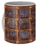 Nine Orange Lobster Traps Coffee Mug by Stuart Litoff