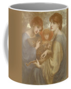 No. 1011 Study For The Bower Meadow Coffee Mug by Dante Gabriel Charles Rossetti