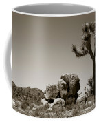 Joshua Tree National Park Landscape No 4 In Sepia  Coffee Mug