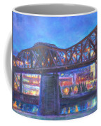 City At Night Downtown Evening Scene Original Contemporary Painting For Sale Coffee Mug