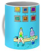 No Frisbee In The Gallery Coffee Mug