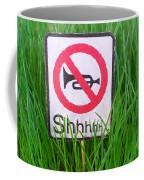 No Horn Shhh... Coffee Mug