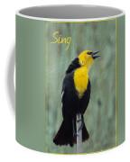 Yellow-headed Blackbird Singing Coffee Mug