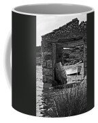 Vintage Boat Framed In Nature Of Minorca Island - Waiting  Coffee Mug