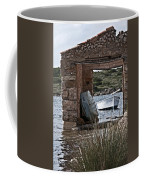 Vintage Boat Framed In Nature Of Minorca Island - Hide And Seek Coffee Mug