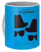 No012 My Blues Brother Minimal Movie Poster Coffee Mug by Chungkong Art