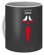 No121 My Scream Minimal Movie Poster Coffee Mug by Chungkong Art