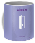 No161 My Monster Inc Minimal Movie Poster Coffee Mug by Chungkong Art