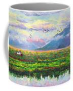 Nomad - Alaska Landscape With Joe Redington's Boat In Knik Alaska Coffee Mug