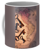 North America And Old Keys Coffee Mug