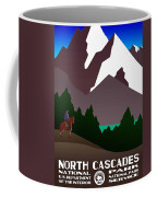 North Cascades National Park Vintage Poster Coffee Mug
