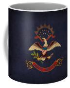 North Dakota State Flag Art On Worn Canvas Coffee Mug
