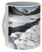 North Saskatchewan River In Winter Coffee Mug
