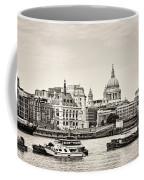 North Side Of The Thames Bw Coffee Mug