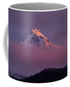 North Sister Volcano,last Evening Light Coffee Mug