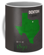 North Texas University Mean Green Denton College Town State Map Poster Series No 078 Coffee Mug