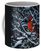 Northern Cardinal In Winter Coffee Mug