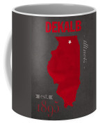 Northern Illinois University Huskies Dekalb Illinois College Town State Map Poster Series No 079 Coffee Mug