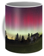 Northern Lights Over Foster Covered  Bridge Cabot Vt Coffee Mug