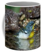 Northern Parula Parula Americana Soaking Coffee Mug