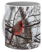 Northern Red Cardinal In Winter Coffee Mug
