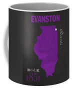 Northwestern University Wildcats Evanston Illinois College Town State Map Poster Series No 080 Coffee Mug