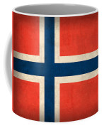 Norway Flag Distressed Vintage Finish Coffee Mug by Design Turnpike