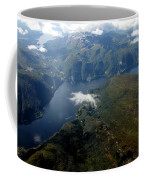 Norwegian Fjord From On High Coffee Mug