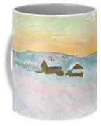 Norwegian Landscape, Blue Houses, 1895 Coffee Mug