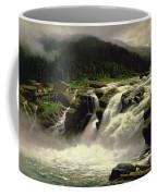 Norwegian Waterfall Coffee Mug by Karl Paul Themistocles van Eckenbrecher