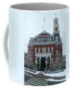 Norwich City Hall In Winter Coffee Mug