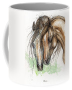 Nose To Nose Watercolor Painting Coffee Mug