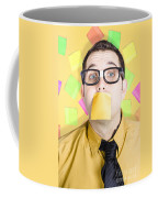Notice Board Businessman With Crazy To-do List Coffee Mug