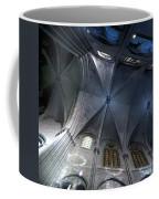 Notre Dame Ceiling In Blues Coffee Mug