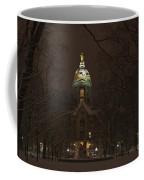 Notre Dame Golden Dome Snow Coffee Mug