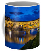 Notte A Ponte Vecchio Coffee Mug by Inge Johnsson
