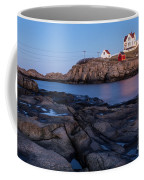 Nubble Light Along Maine's Rugged Coast York Beach Maine Coffee Mug