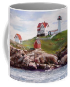Nubble Lighthouse In Pastel Coffee Mug by Jack Skinner