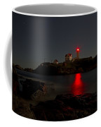 Nubble Lighthouse Lit By The Full Moon Coffee Mug