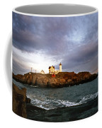 Nubble Lighthouse Coffee Mug by Skip Willits