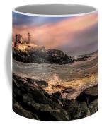 Nubble Lighthouse Winter Solstice Sunset Coffee Mug
