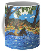 Nude And Bareback Swim Coffee Mug