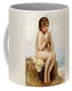 Nude Child With Dove Coffee Mug
