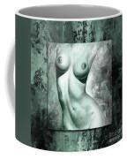 Nude Details - Digital Color Version Frame Aqua Black Coffee Mug